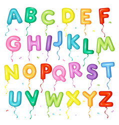 balloon colorful font letters from a to z vector image vector image