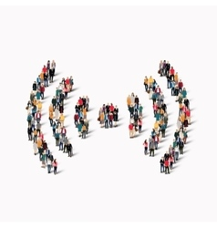 group people sign Wi fi vector image vector image
