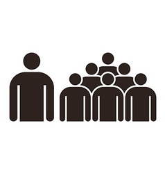 Human figure and group of people vector image