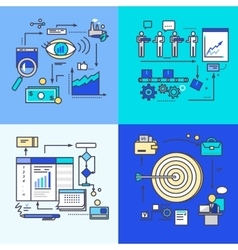 Vision Development Progress and Workflow Goal vector image