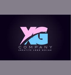 xg alphabet letter join joined letter logo design vector image