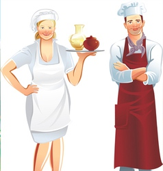 cook service vector image vector image