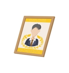 Employee of the month icon cartoon style vector image