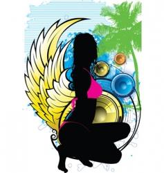 island goddess vector image vector image