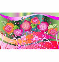 rose fantasia vector image vector image