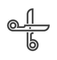 scissors thin line icon vector image