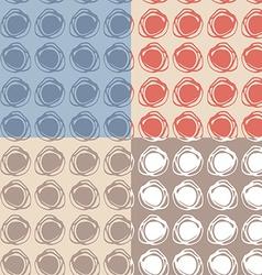 set of 4 Seamless pattern polka dot texture doodle vector image