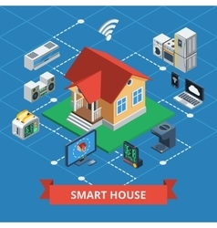 Smart House Isometric vector image