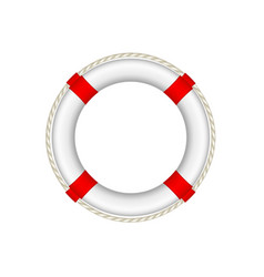 white life buoy with rope around vector image