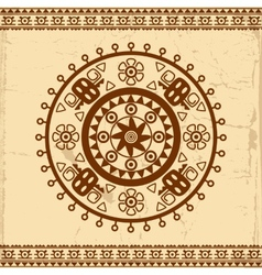 Beautiful Mexican ethnic ornament vector image vector image