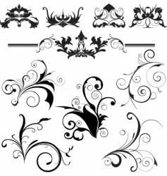 floral trims vector image