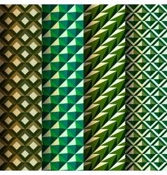 Set seamless geometrical patterns retro style vector image