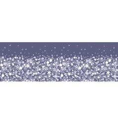Silver sparkles horizontal seamless pattern vector image vector image