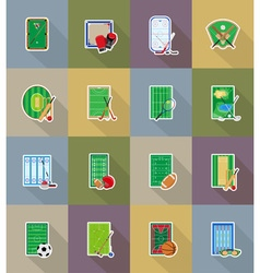 sport flat icons 78 vector image vector image