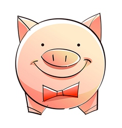 A piggy bank vector