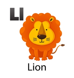 Alphabet L with lion vector image