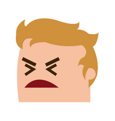 avatar man angry success emotion face expression vector image