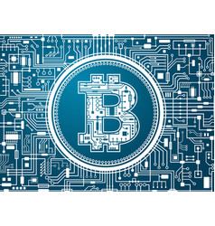 Bitcoin digital currency background vector