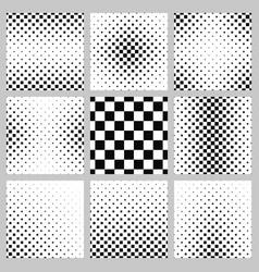 Black and white square pattern design set vector