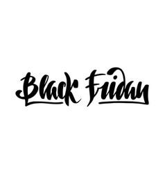 black friday brush lettering vector image