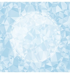 Blue Light Polygonal Mosaic Background vector image