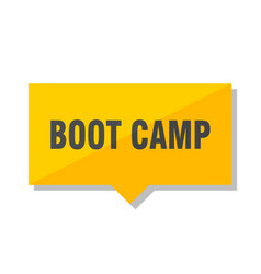 Boot camp price tag vector