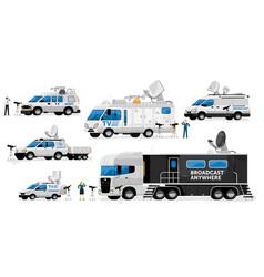 Broadcast vans broadcasting transport set vector