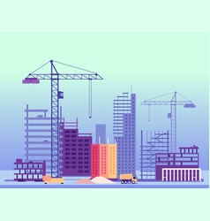Building process unfinished buildings and vector