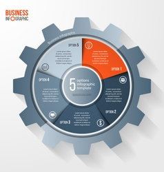 Business and industry gear style circle vector