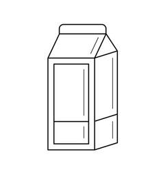 Carton box of milk line icon vector