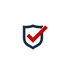check shield logo icon design vector image