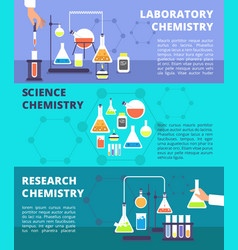 Chemistry laboratory research lab and science vector