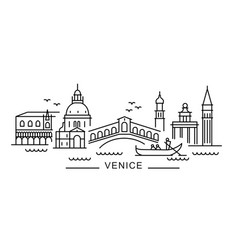 City venice in outline style on white vector