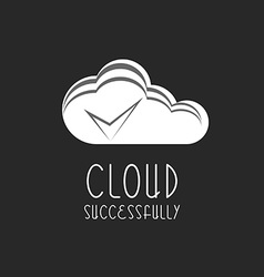 Cloud icon check mark sign the process is vector image