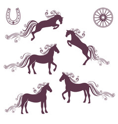 Collection of of horses vector
