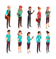Corporate clothes isometric standing vector