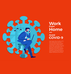 Covid19-19 work from home 01 vector