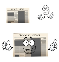 Daily newspaper isolated cartoon character vector