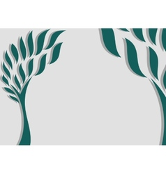 Decorative trees background vector image