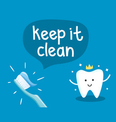 Dental health poster vector