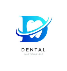 Dental or dentist logo symbol clean tooth symbol vector