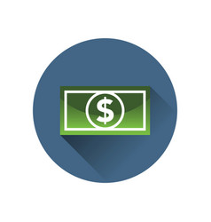 Dollar bill icon in a circle vector