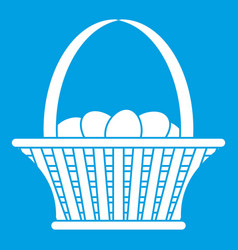 Easter basket icon white vector