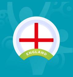 england flag european football 2020 tournament vector image
