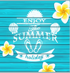 Enjoy the summer vector image vector image