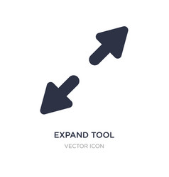 Expand tool icon on white background simple vector