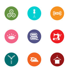 fix the fabric icons set flat style vector image