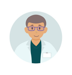 flat doctor avatar for website chat window vector image