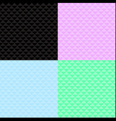 four seamless pattern of squares with dots vector image