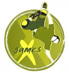 games symbol vector image